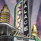 Palace Theater Retro Neon Sign by Anthony Ross