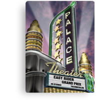 Palace Theater Retro Neon Sign Canvas Print