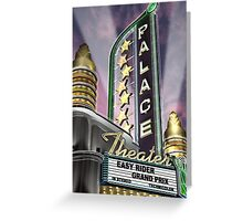Palace Theater Retro Neon Sign Greeting Card