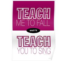 Teach Me to Fall... Poster
