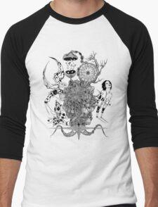 Bearing Ataxic Beings T-shirt Men's Baseball ¾ T-Shirt