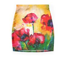 The Rhythm Of Life...Poppies Pencil Skirt