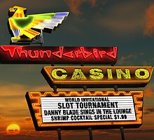 Thunderbird Casino Las Vegas Retro Neon Sign by Anthony Ross