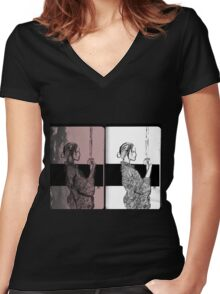 Onna Bugeisha Women's Fitted V-Neck T-Shirt