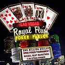 Las Vegas Poker Parlor Retro Neon Sign by Anthony Ross