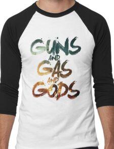 Guns and Gas and Gods Men's Baseball ¾ T-Shirt