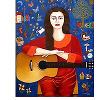 """Violeta Parra  and the song """"Thanks to Life """" Photographic Print"""