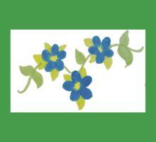 Blue flowers One Piece - Short Sleeve