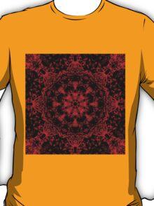 Deep Red Gothic Fleur T-Shirt