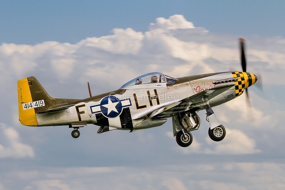"""P-51D Mustang 45-15118/LH-F G-MSTG """"Janie"""" by Colin Smedley"""