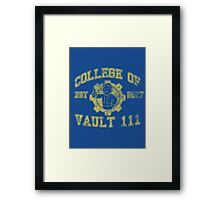 College of Vault 111 - Fallout 4 Framed Print