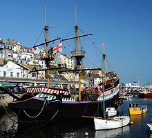 The Golden Hind at Brixham by rodsfotos