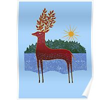 Deer in Sunlight Poster
