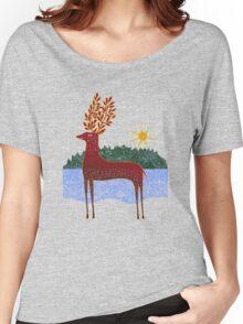 Deer in Sunlight Women's Relaxed Fit T-Shirt
