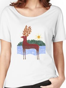 Deer in Sunlight Women's Relaxed Fit T-Shirt