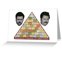 Swanson Pyramid of Greatness Greeting Card