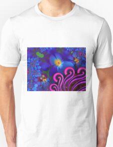 Blue Rainbow Garden Unisex T-Shirt