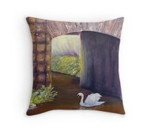 The Mill Swan Throw Pillow