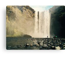 Skogfoss Waterfall, Iceland  Canvas Print