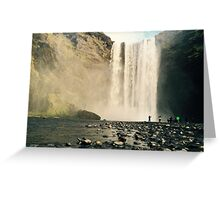 Skogfoss Waterfall, Iceland  Greeting Card