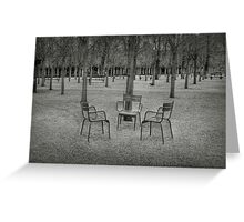 Lonely chairs Greeting Card