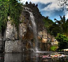Waterfall - Penn Castle Gardens by BeaVincent