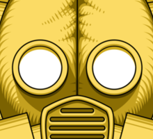 Art Deco Gold Gasmask Sticker