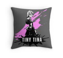 Tiny Tina (Colored BG) Throw Pillow