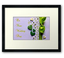 On Your Wedding Day Framed Print