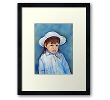 Girl With A Hat Framed Print