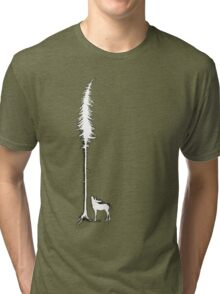 Desperate Moose (white) Tri-blend T-Shirt