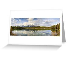 Early morning Herbert Lake panorama, Banff Greeting Card