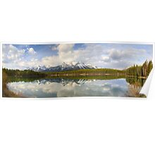 Early morning Herbert Lake panorama, Banff Poster