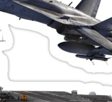 F/A-18 Hornet and the USS Harry S. Truman Sticker