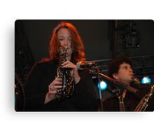Two Saxes, John Morrison's Jam Session, Darling Harbour 2008 Canvas Print