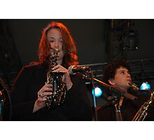 Two Saxes, John Morrison's Jam Session, Darling Harbour 2008 Photographic Print