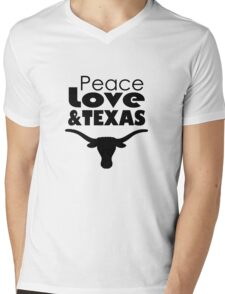 Peace, Love, & TEXAS! Mens V-Neck T-Shirt