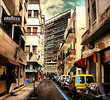 Casablanca narrow street by shaheed