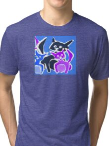 Surprise ! A Pink Kitty Too Tri-blend T-Shirt