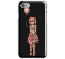Cute Punk Cartoon of Girl Holding Purple Balloon iPhone Case/Skin
