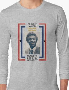 Re-elect Mayor Goldie Wilson Long Sleeve T-Shirt