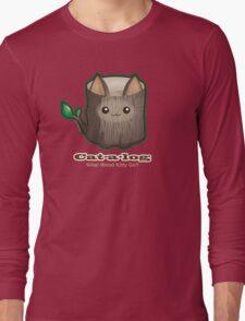 Cute Cat Pun: Cat-a-log Long Sleeve T-Shirt