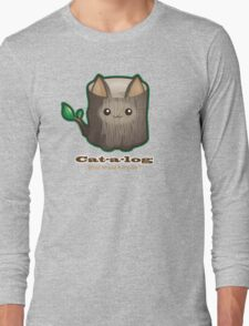 Cute Cat Pun: Cat-a-log Long Sleeve T-Shirt