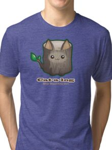 Cute Cat Pun: Cat-a-log Tri-blend T-Shirt