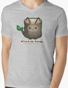 Cute Cat Pun: Cat-a-log Mens V-Neck T-Shirt