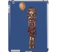 Cute Punk Cartoon of Girl Holding Yellow Balloon  iPad Case/Skin