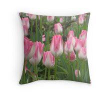 Hot Pink Tulip Partee Throw Pillow