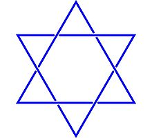 Star of David - blue and fine Photographic Print