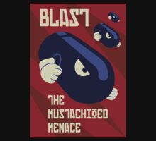 Blast the Mustachioed Menace by FlamingDerps