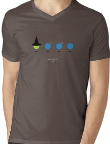 Elphaba and the Blue Man Group Mens V-Neck T-Shirt